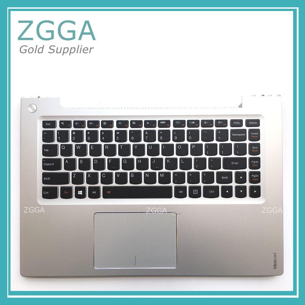 Genuine for Lenovo Ideapad U430 U430P U430T Palmrest Top Upper Case US English Keyboard Bezel Lid with Backlit Touchpad Silver