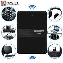 Новый Bluetooth стерео передатчик и приемник 2in1 аудио Музыка V4.1 3.5 мм Aux Dongle адаптер для IPOD DVD ТВ PC car Главная стерео