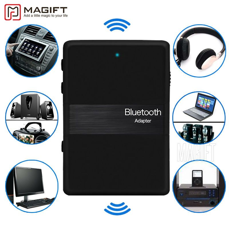 New Bluetooth Stereo Transmitter And Receiver 2in1 Audio Music V4.1 3.5mm Aux Dongle Adapter for iPod DVD TV PC Car Home Stereo