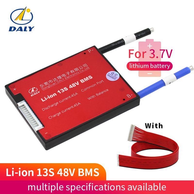 Daly 3.6 V 3.7 V 13 S 48 V e-bike Li ion batterie 18650 BMS 15A 20A 25A 35A 45A 60A batterie BMS tension de charge 54.6 V avec balance