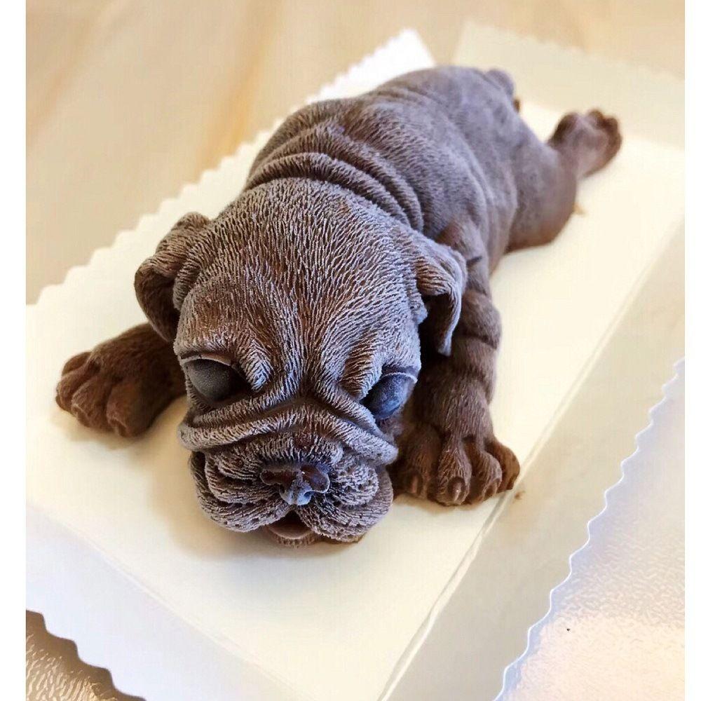 Pudding Kuchen Form Mould Silikon Mousse 3D Eis Dekoration Hund Fondant K280