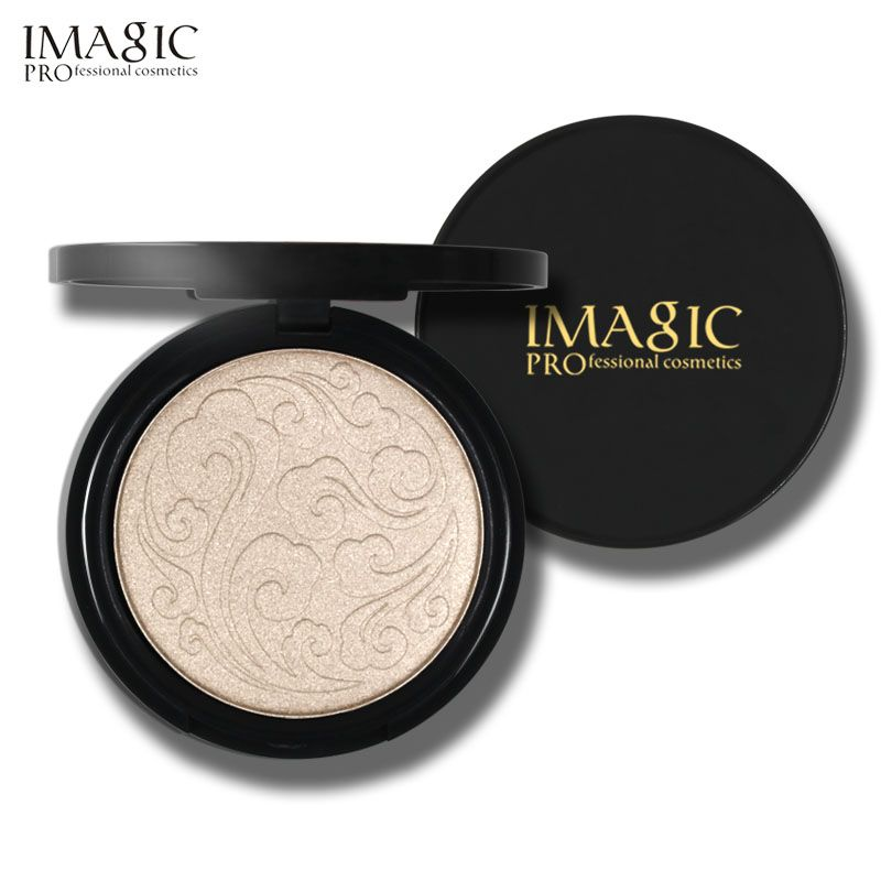 IMAGIC Highlighter Powder Fashion Women Bronzer powder High lighter Powder makeup professional brightening facial contour 1pcs
