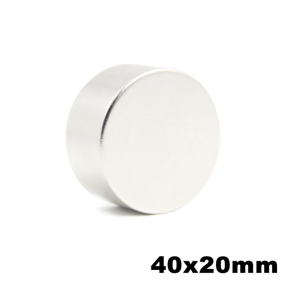 1pcs 40x20mm Super Powerful Strong Bulk Small Round NdFeB Neodymium Disc Magnets Dia 40mm x 20mm N52 Rare Earth NdFeB Magnet