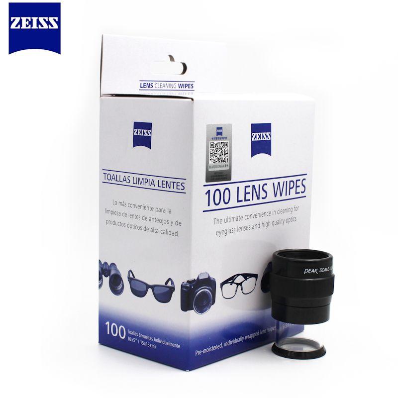Zeiss pré-humidifié lentille lingettes nettoyage pour lentilles de lunettes de soleil lunettes de soleil lentilles de caméra téléphone portable ordinateur portable lentille vêtements 100ct Pack