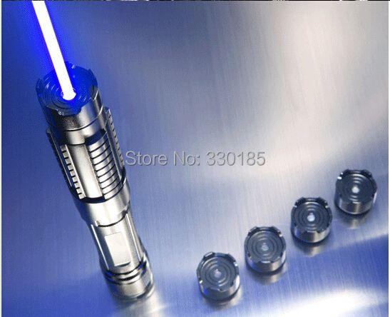 Leistungsstarke 450nm 5000000 mt 5in1 Starke leistung militär blauer laser-zeiger brennen spiel kerze brennende zigarette böse lazer fackel Watt