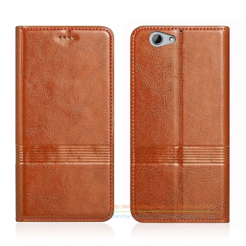 Vintage Genuine Leather Flip Stand Case For HTC One A9S 5.0