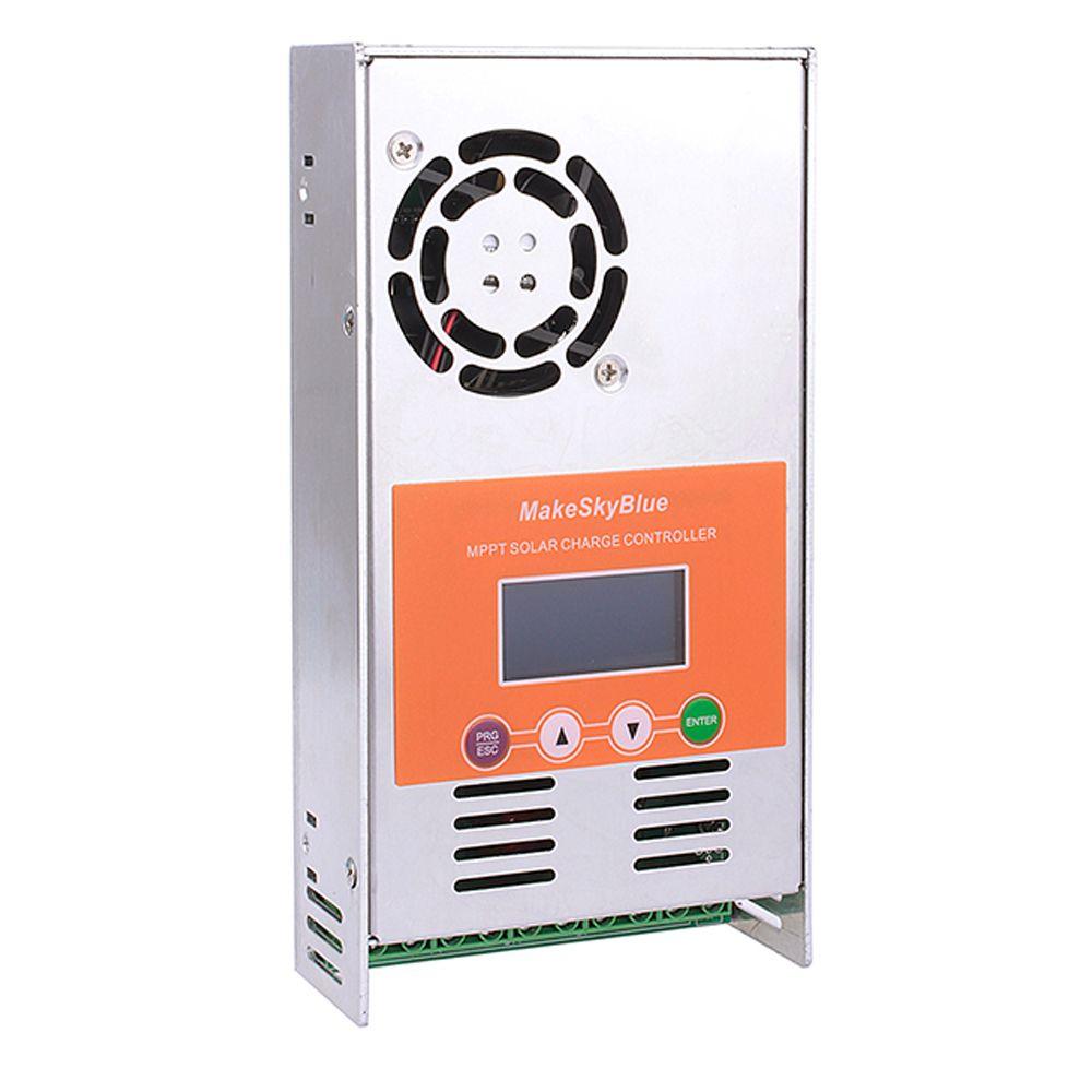 MakeSkyBlue MPPT contrôleur de Charge solaire 30A 40A 50A 60 ampères avec LCD pour 12V 24V 36V 48VDC système de batterie commande en gros