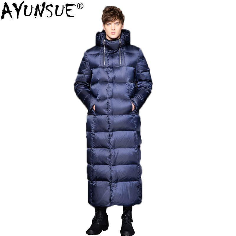 AYUNSUE 2019 Neue Gans Unten Jacke Männer Lange Dicke Koreanischen männer Winter Jacken Unten Mantel puffer jacke Doudoune Homme KJ1335