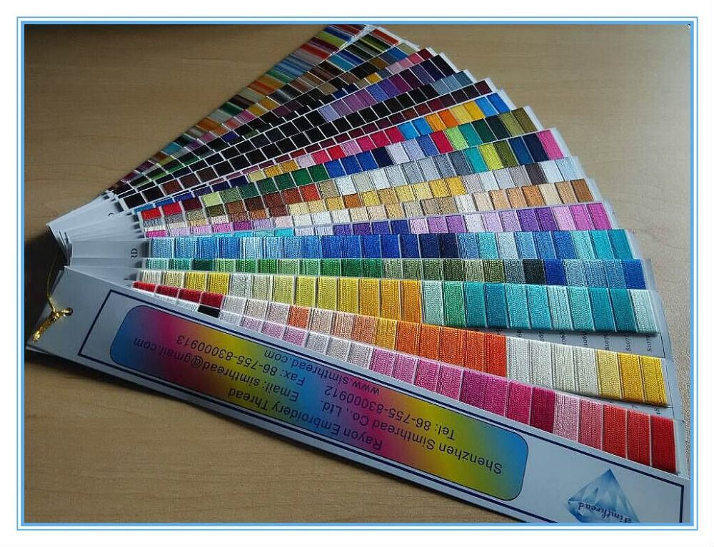 Hot-selling Super Shine 100% Rayon Machine Embroidery Thread ,432 Colors Kit ,Vivid Colors Free Shipping