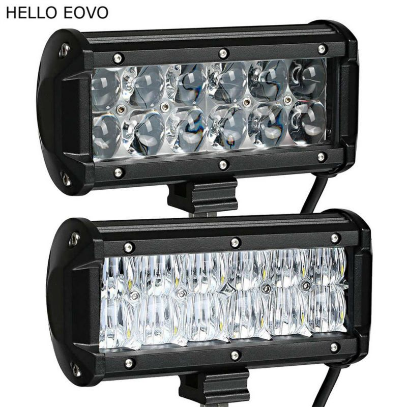 HELLO EOVO Real Power 4D 5D 7 Inch 2pcs LED Light Bar for Work Driving Offroad Boat Car Tractor Truck 4x4 SUV ATV 12V 24v