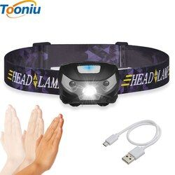 3000LM Recargable Mini LED Proyector Sensor de Movimiento Del Cuerpo LED Bicicleta Luz Principal de La Lámpara Al Aire Libre Linterna de Camping Con USB