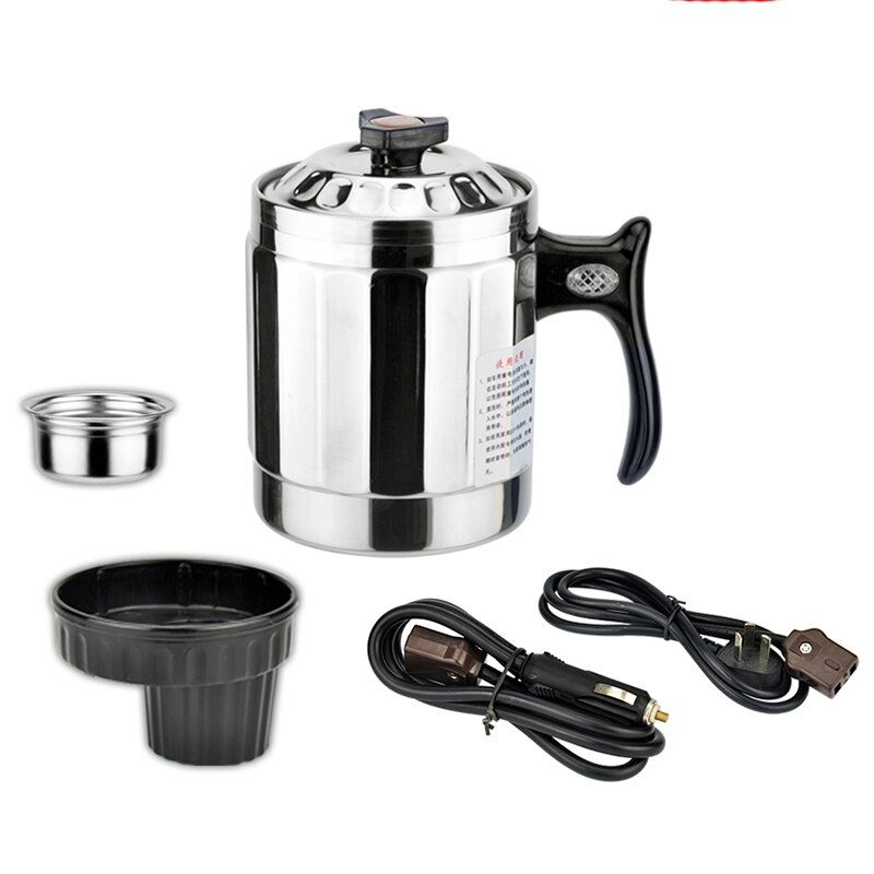 New Car heating cup 12v heating cup Electric Kettle Cars Thermal Heater Cups Boiling Water bottel Auto accessories 1000ML+Cable