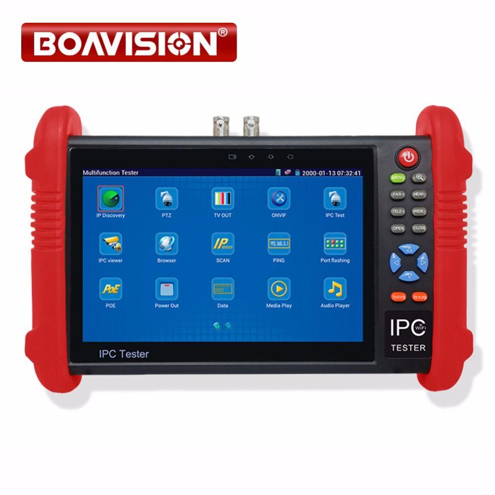 Onvif IP Camera CCTV Tester Build in Wifi AHD CVI TVI SDI Camera Test Optional / Customized IPC/ PTZ Coaxial Control etc