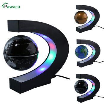 Mapa del mundo de la luz de levitación magnética de la forma del globo Tellurion flotante del LED de la decoración de la Oficina del hogar del enchufe de EE. UU./UE/Reino Unido