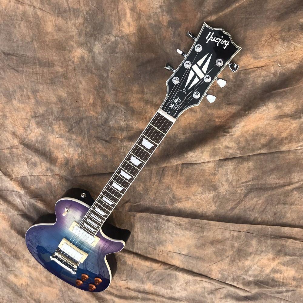LP neue marke von e-gitarre, gute form, regenbogen obwohl körper, guten klang, freies verschiffen
