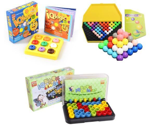 Qualité En Plastique Logique IQ Puzzle Brain Mind Teaser Perles Tangram Puzzles Jeu Cadeau Jouets pour Enfants Adultes