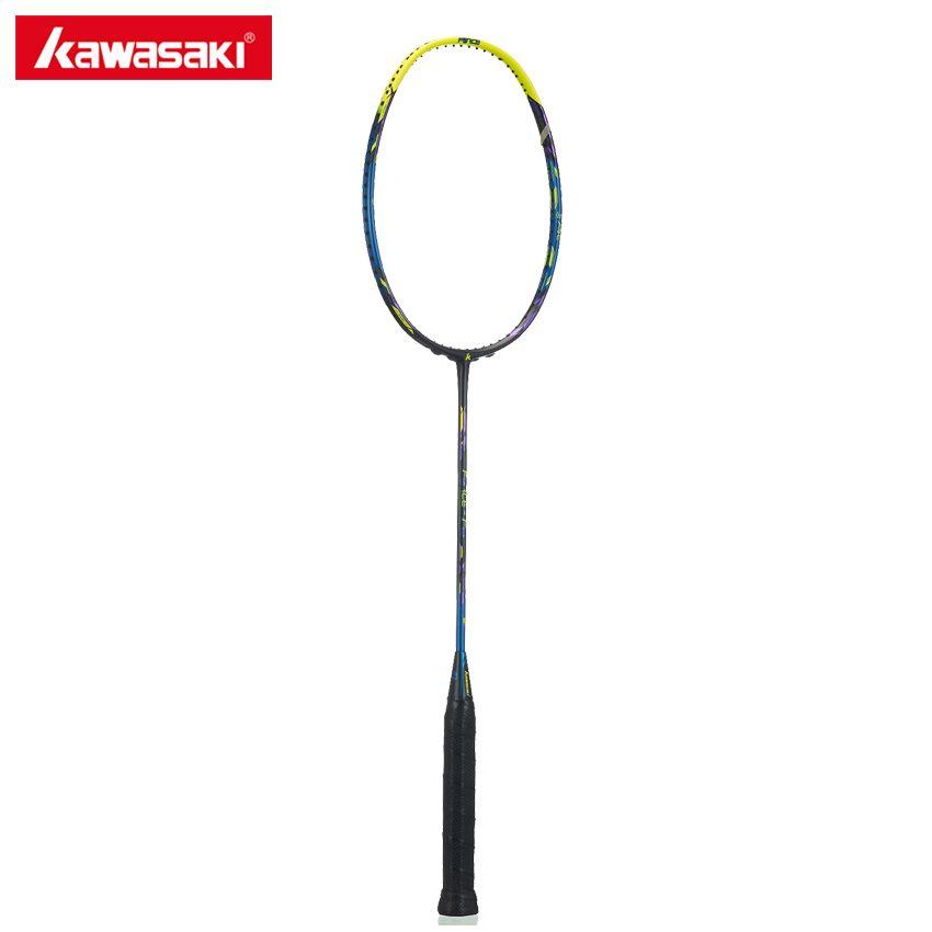 Kawasaki Badminton Racket Force Series F8 18-30LBS High Tension Professional 3U Racquet Badminton Box Frame Structure