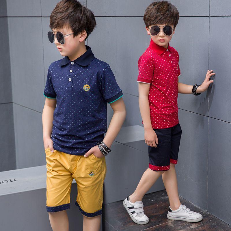 Nouveau 2019 enfants garçons vêtements d'été ensembles T Shirt et Shorts sport survêtement pour garçons ensemble 4 6 8 9 10 12 ans