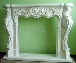 Cheminée en marbre cheminée classique style Européen salle de réception cheminée en pierre naturelle