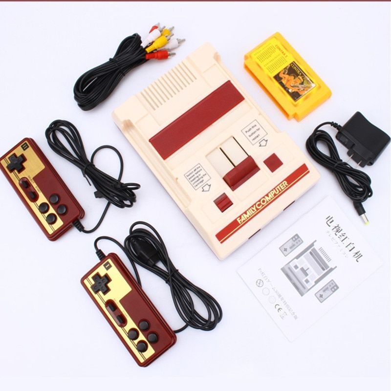 8 bit TV Game Player Classic Red White Video Game Consoles Video Game Console Yellow Card Plug-in Card Games RS-37