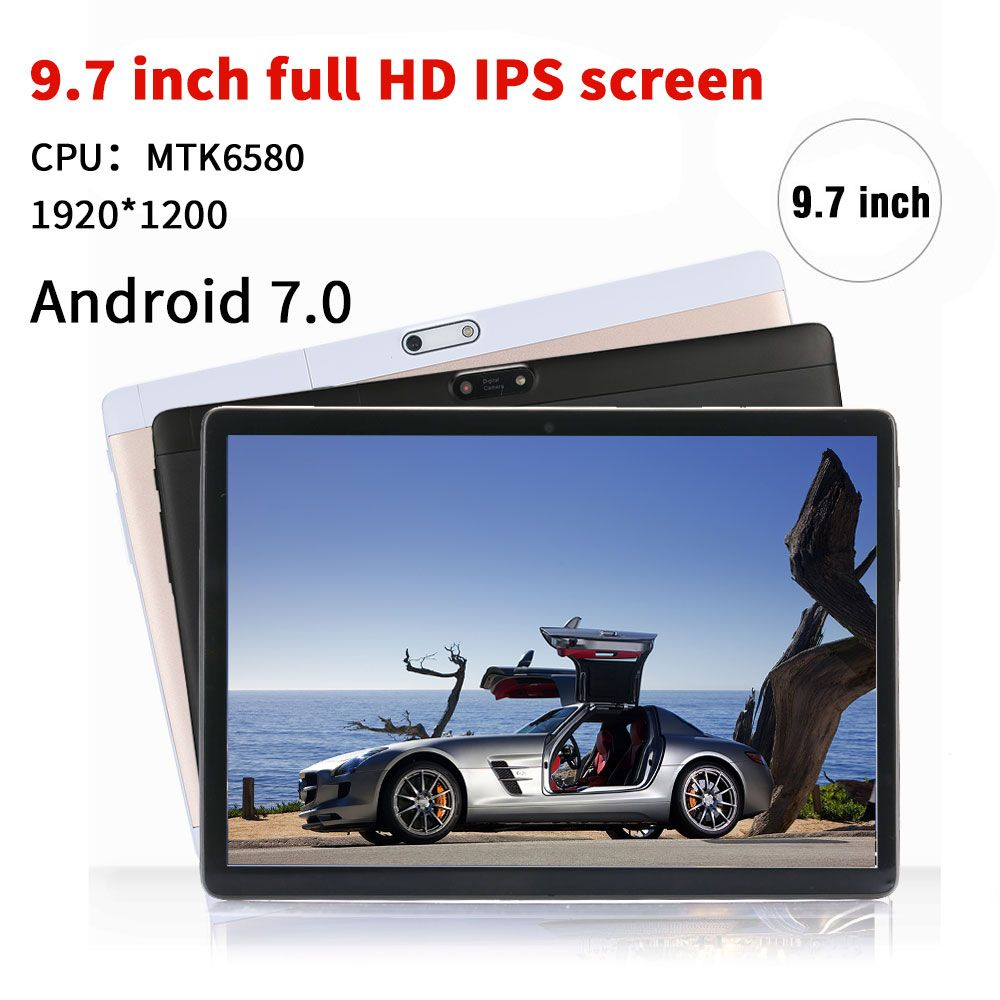 NERLMIAY 9.7 inch Original Tablet PC Android 7.0 Octa Core 4GB RAM 64GB ROM Dual SIM Cards WiFi Bluetooth Smart Tablets
