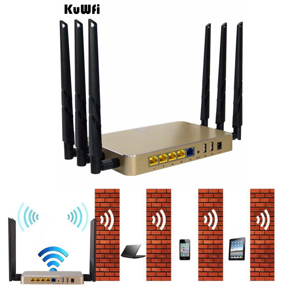 1200 Mbps 11AC Dual Bnad Gigabit Wireless Router Multi Funktion Durch Wand WiFi Repeater AP Router Hohe Gewinnen Unterstützung 128 benutzer