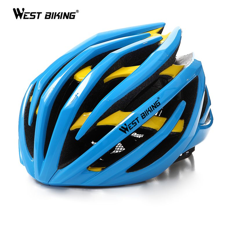 WEST BIKING Cycling Men's Women Helmet EPS Two Layers MTB Mountain Absorb Sweat Insect Nets Comfort Safety Cycle Bicycle Helmet