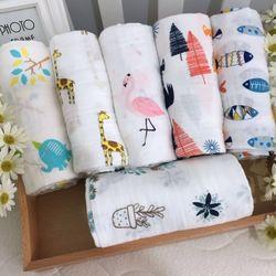 [Simfamily] gota muselina 100% algodón Baby Swaddles recién nacido mantas suaves infantil colorido envoltura Sleepsack Swaddleme Manta
