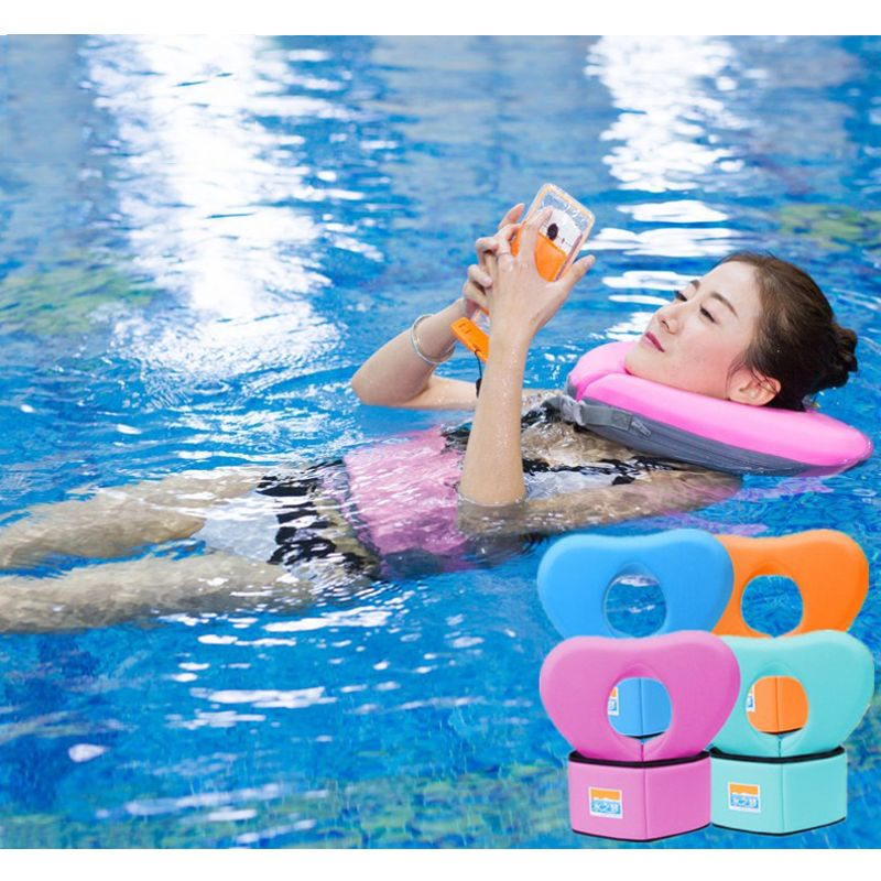 2017 New Swimming Ring Swim Exercise Floating EPE Belt and Collar Float Swimwear for Children Adults Swimming Learner Training