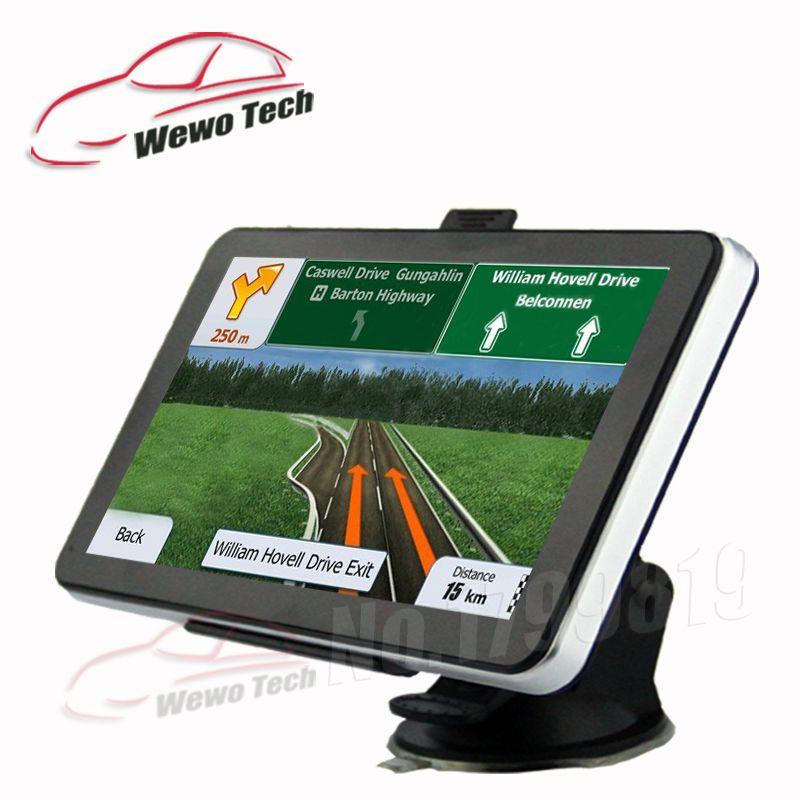 7 inch Gps Navigation DDR3 128MB/4GB 800MHZ 800*480 HD WinCE6.0 FM 2016 Maps Freeshipping Car&Truck Navigator Gps
