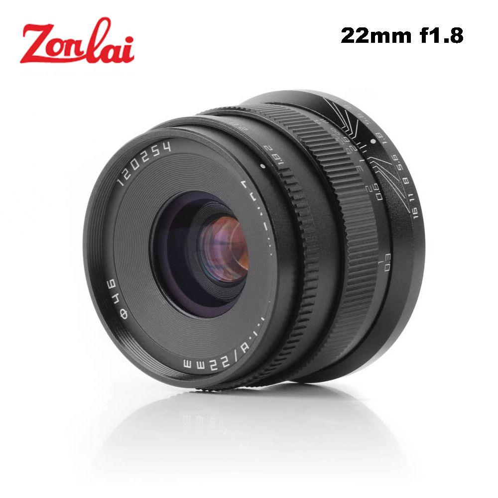 Zonlai 22mm F1.8 Manual Prime Lens for Sony E-mount for Fuji for Micro 4/3 a6300 a6500 X-A1 X-A2 X-M1 G1 G2 G3 Mirrorless Camera