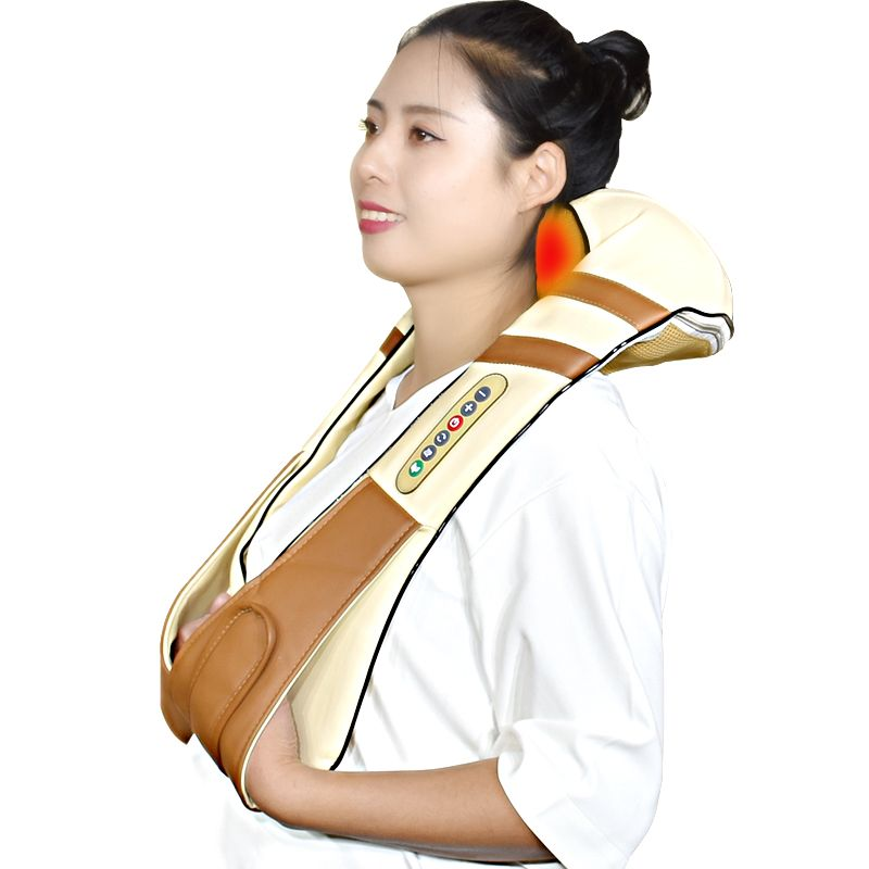 Free Shipping Neck Massager Electric Infrared Heating Massage Device Back Body Shiatsu Massage Equipment Physiotherapy Equipment