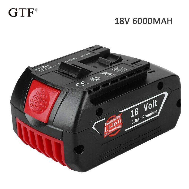 18 V 6.0A 6000 mah Lithium-ionen-akku Tragbare Ersatz Batterie Backup Batterie Anzeige licht Für Bosch BAT609