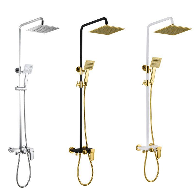 2018 Wholesale Premium Solid Brass Luxurious Exposed Gold Bathroom Shower Kit Bathtub Mixer Faucet Tap