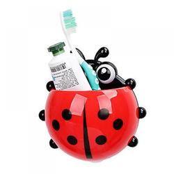 1 unid Ladybug cepillo de dientes titular aseo pasta titular baño succión ganchos cepillo de dientes contenedor Mariquita en venta