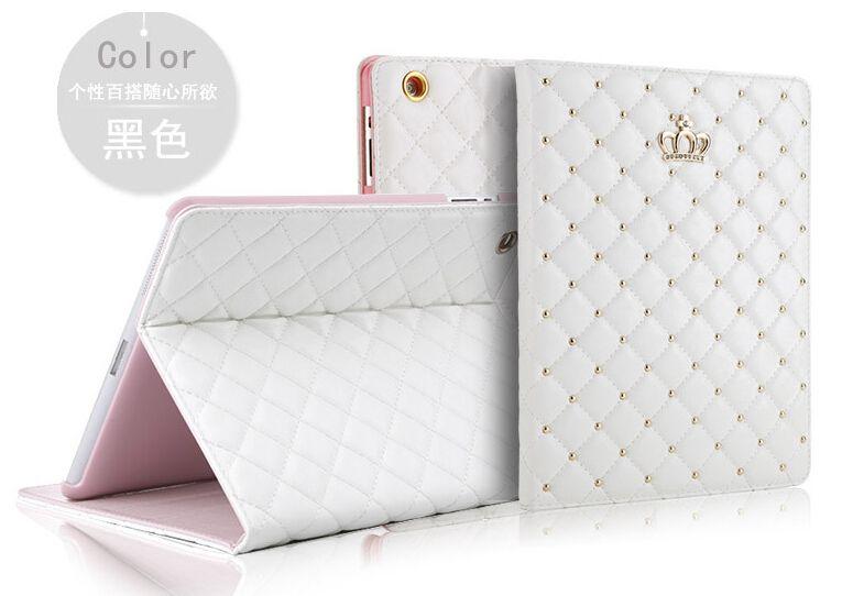 Chaude De Luxe Diamant Couverture Souple Étui En Cuir Pour Ipad Air 1/2 Smart Flip En Cuir Couverture de Stand Pour Ipad 5 6 Avec Top qualité