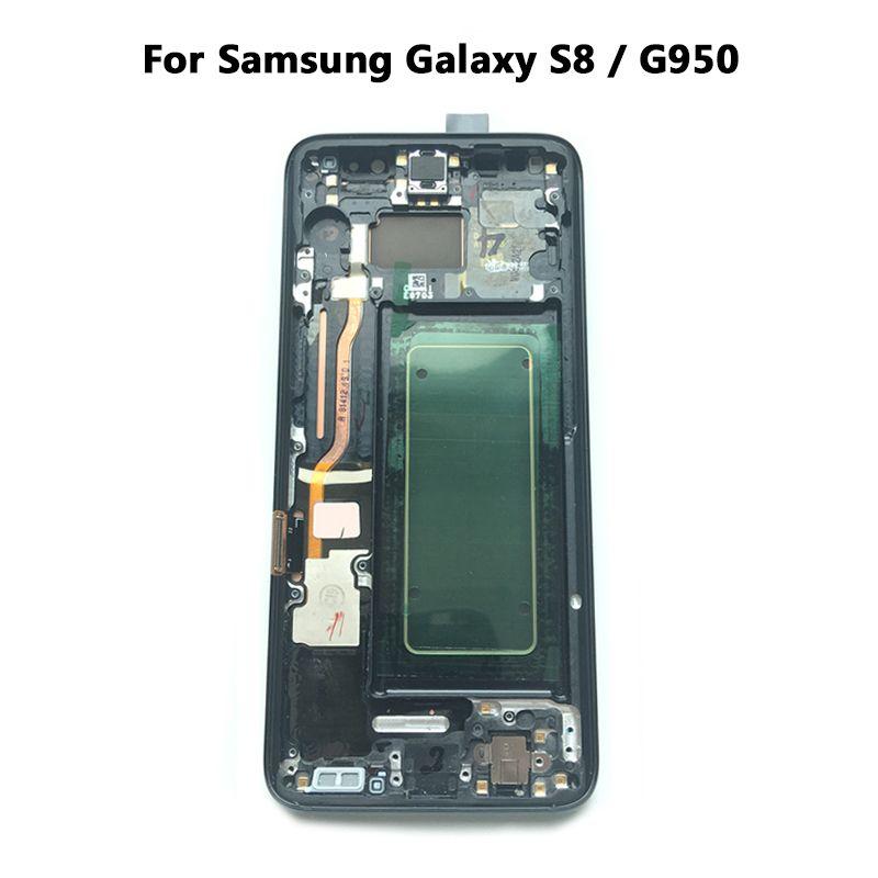 Neue Super AMOLED LCD S8 G950F G950FD G9500 G950U Display 100% Getestet Arbeits Touchscreen Rahmen Montage Für Samsung Galaxy lcd