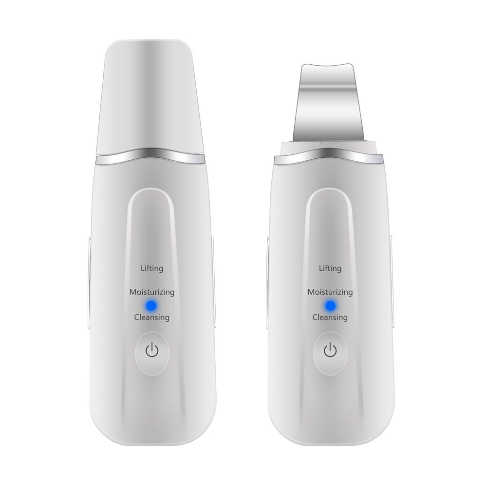 Rechargeable Ultrasonic Face Skin Scrubber Face Cleaning Peeling Vibration Blackhead Removal Exfoliating Pore Cleaner Tools