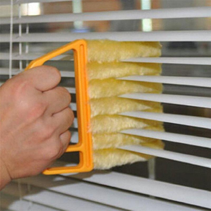 1 STÜCK Jalousie Reinigungsbürste Mikrofaser Waschbar Fensterläden Reinigung Vents Sauber Klimaanlage Reiniger Pinsel drop ship