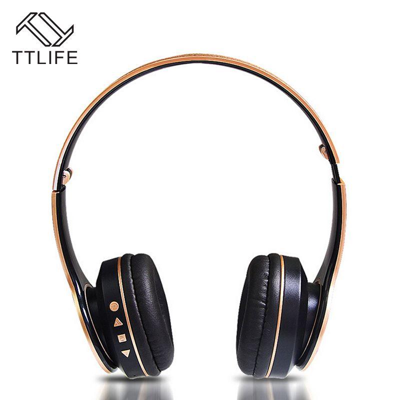 TTLIFE Bluetooth Kopfhörer Wireless Stereo Kopfhörer mit Mic Headsets Micro-sd-kartensteckplatz FM Radio Für Telefon PC
