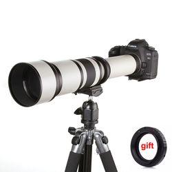 650-1300mm F8.0-16 Super telefoto manual zoom lente + T2 adaptador para DSLR Canon Nikon Pentax Olympus Sony a6300 A7 A7RII A7S II