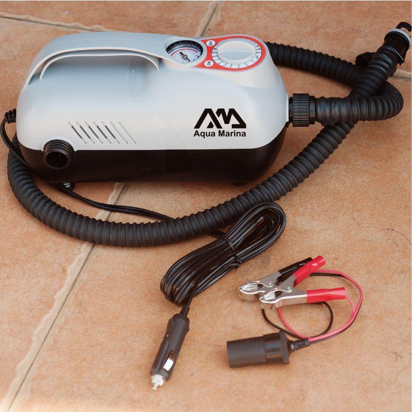Aqua marina super auto pumpe elektrische luftpumpe durch auto leichter max druck 20psi für aufblasbare boot aufblasbare paddle board