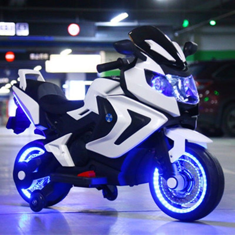 Children's electric motorcycle baby tricycle large 1 to 12 year-old child charged bottle toys can take people kids's gift