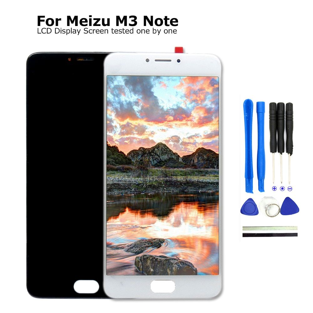 100% NEW For MEIZU M3 Note M681H LCD Display Touch Screen 5.5 inch For Meizu M3 Note L681H Mobile Phone Parts With Free Tools