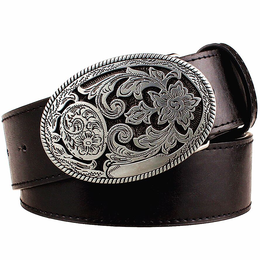 Ceinture femme rétro métal boucle armure Arabesque motif cuir ceintures jeans tendance punk rock sangle décoration ceinture cadeau pour femme