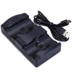 USB Dual Charging Powered Dock Charger For Sony PlayStation 3 Controller Joystick For Sony PS3 Controle and Move Navigation