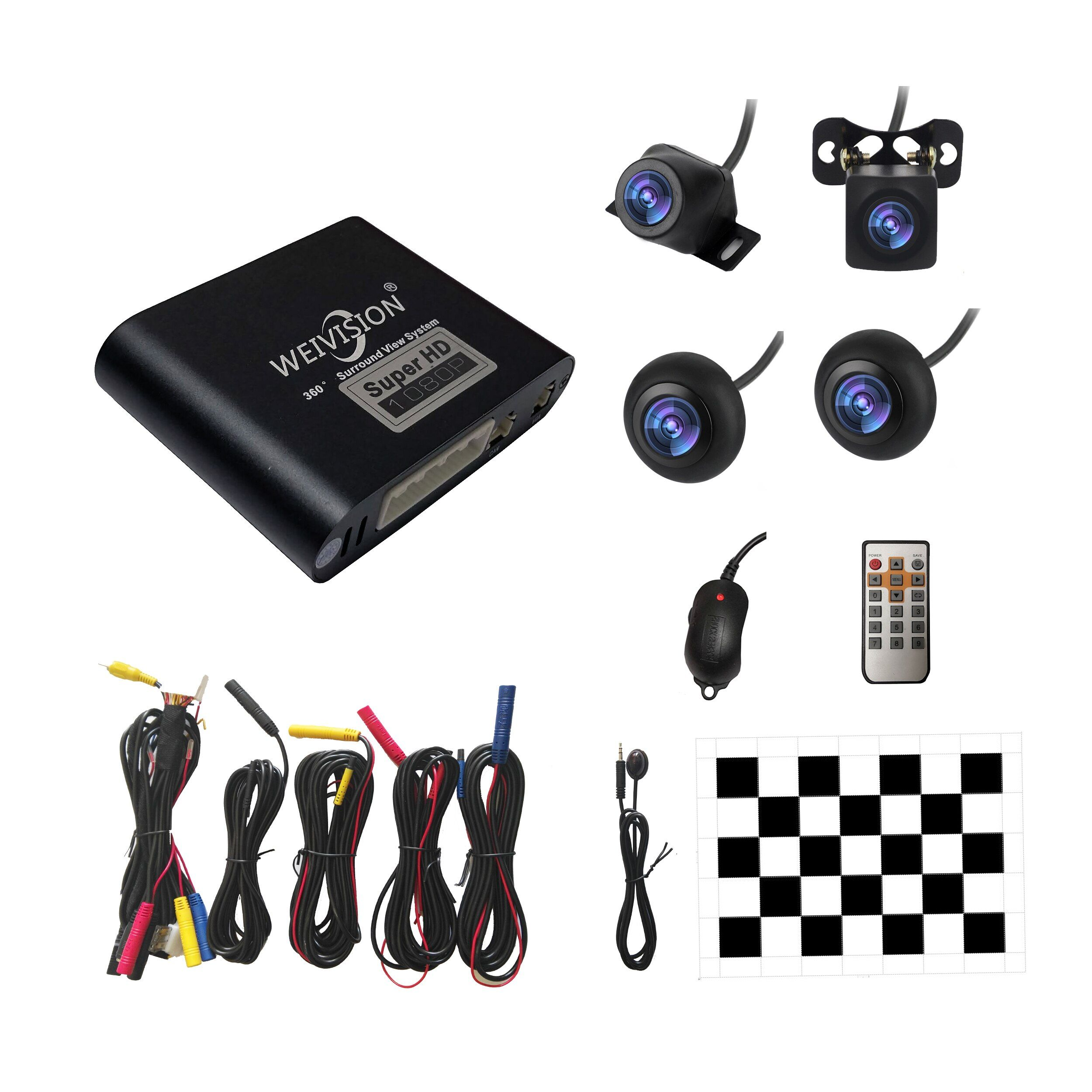 1080 P HD 360 Bridview Surround Auto Monitor System Panorama Ansicht, alle runde Ansicht Kamera system mit DVR rekord USB für alle auto