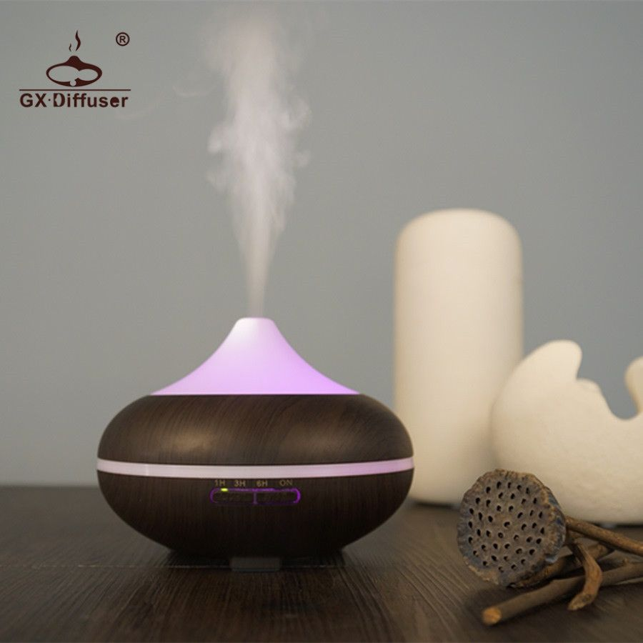 GX.Diffuser 500ml Aroma Diffuser LED Light With 7 Changing Colors Mist Maker Fogger Air Purifier Ultrasonic Humidifier Home Spa