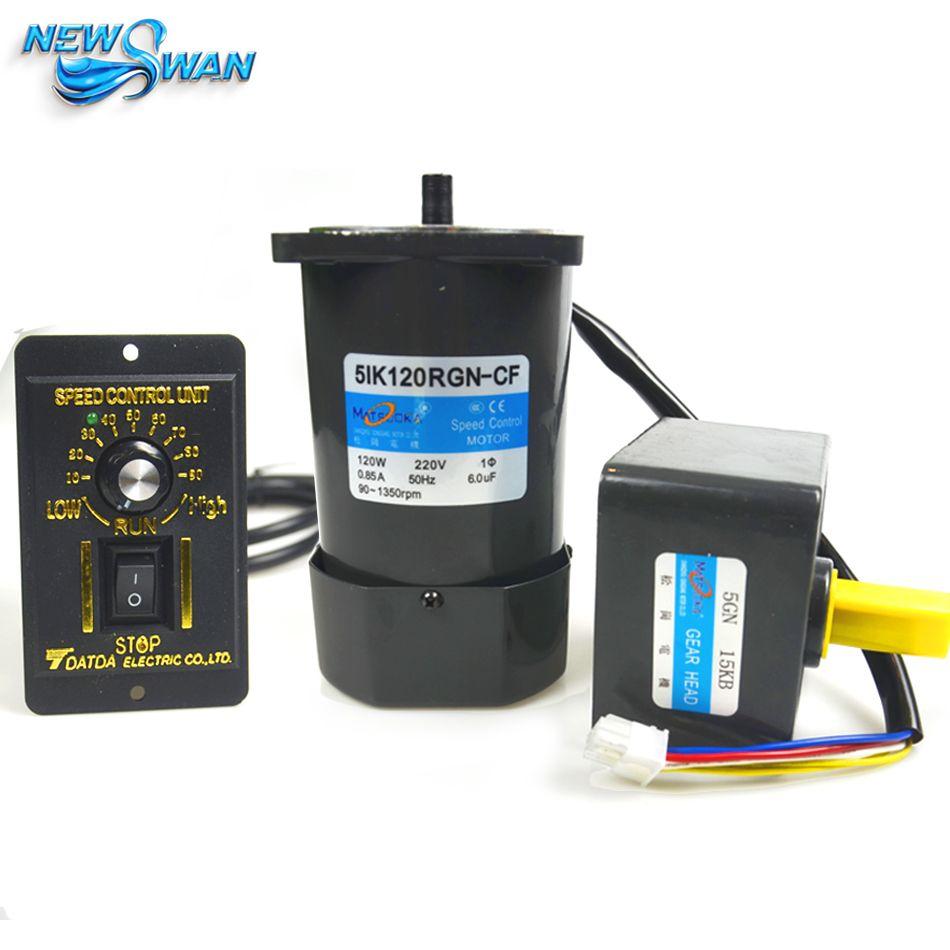 51K120RGN-CF 120 Watt AC Getriebe-motor geschwindigkeitsregelmotor 1 PH 50 HZ AC 220 V, 100 RPM zu 50 RPM mit Drehzahlregler