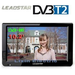 HD Portable TV 10 Inch Digital And Analog Led Televisions Support TF Card USB Audio Car Television  HDMI Input DVB-T DVB-T2 AC3